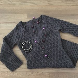 Guess Gray Scoop neck Sweater